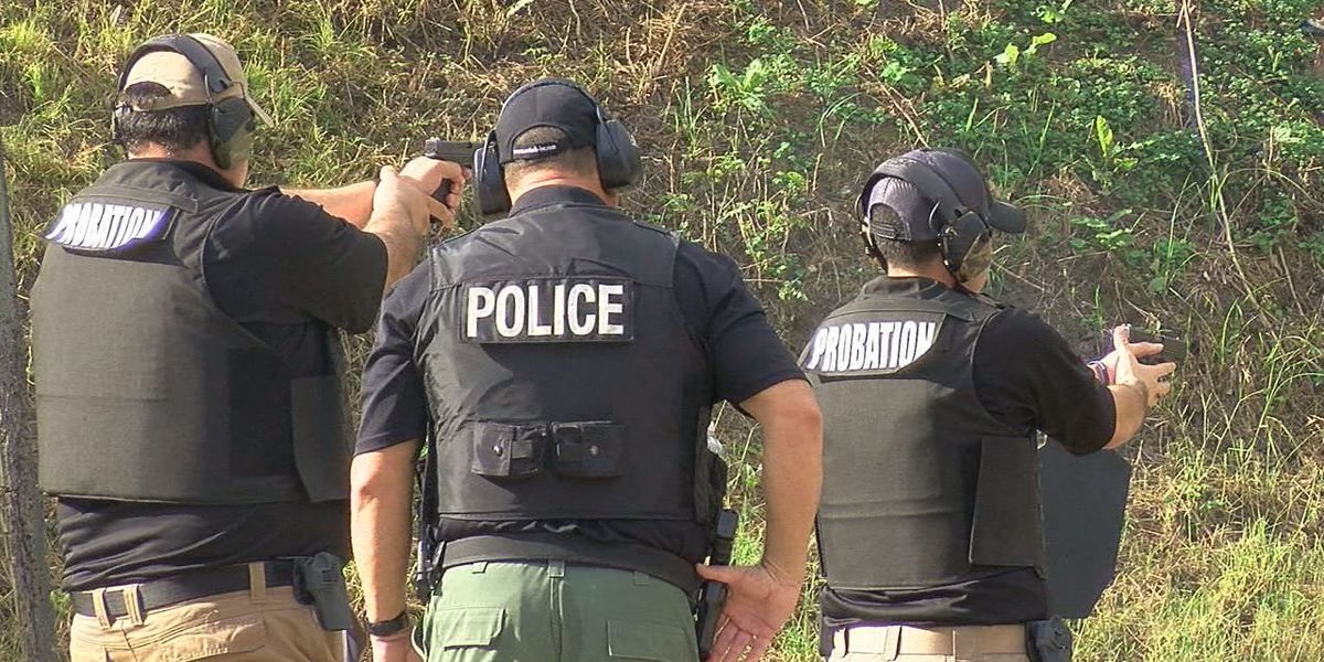Probation officers compete for bragging rights in Lufkin shooting competition