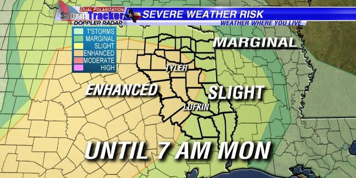 Strong to severe storms possible overnight and Monday