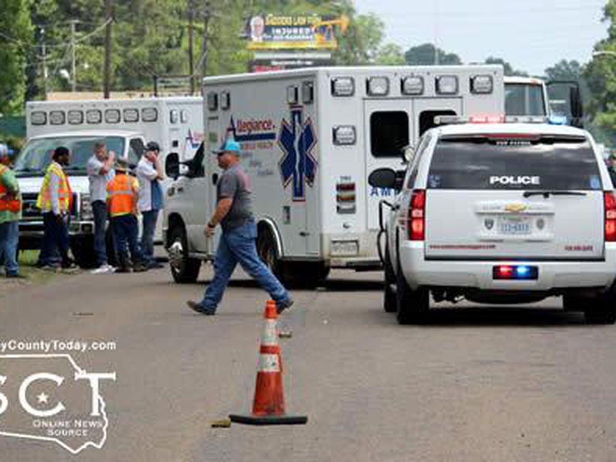 1 flown to hospital following vehicle-pedestrian crash in Center