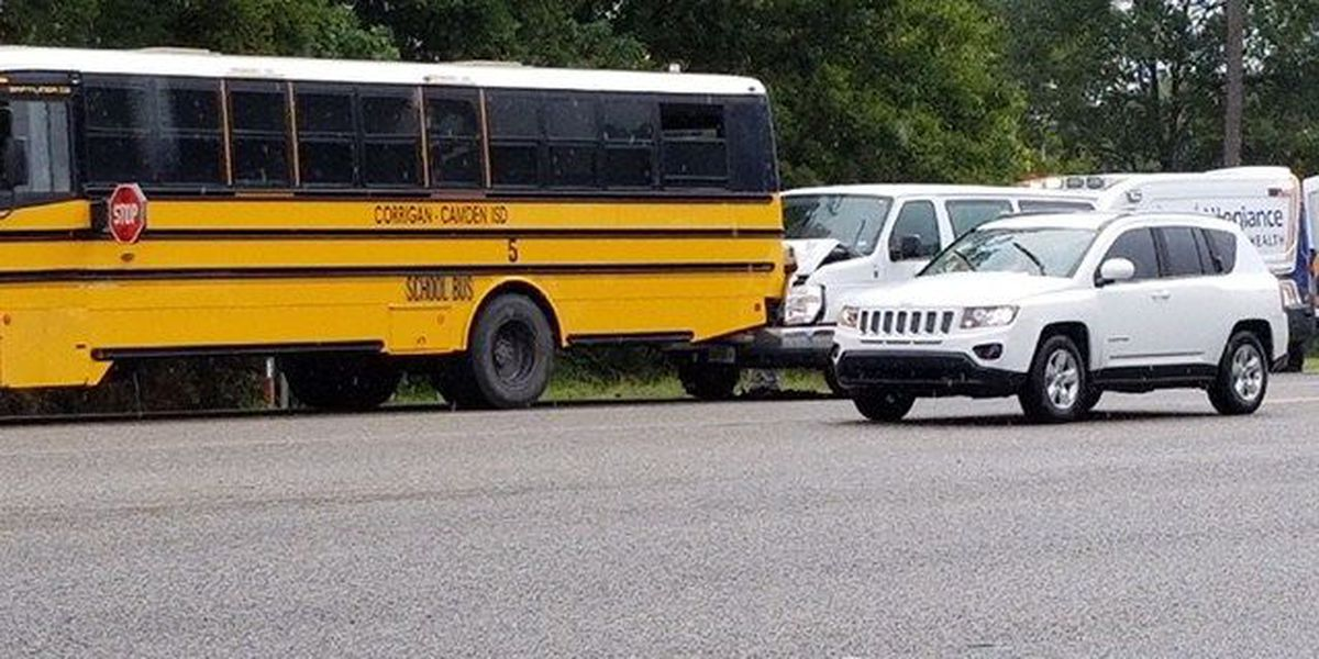 4 people taken to hospital after Corrigan-Camden ISD bus wreck