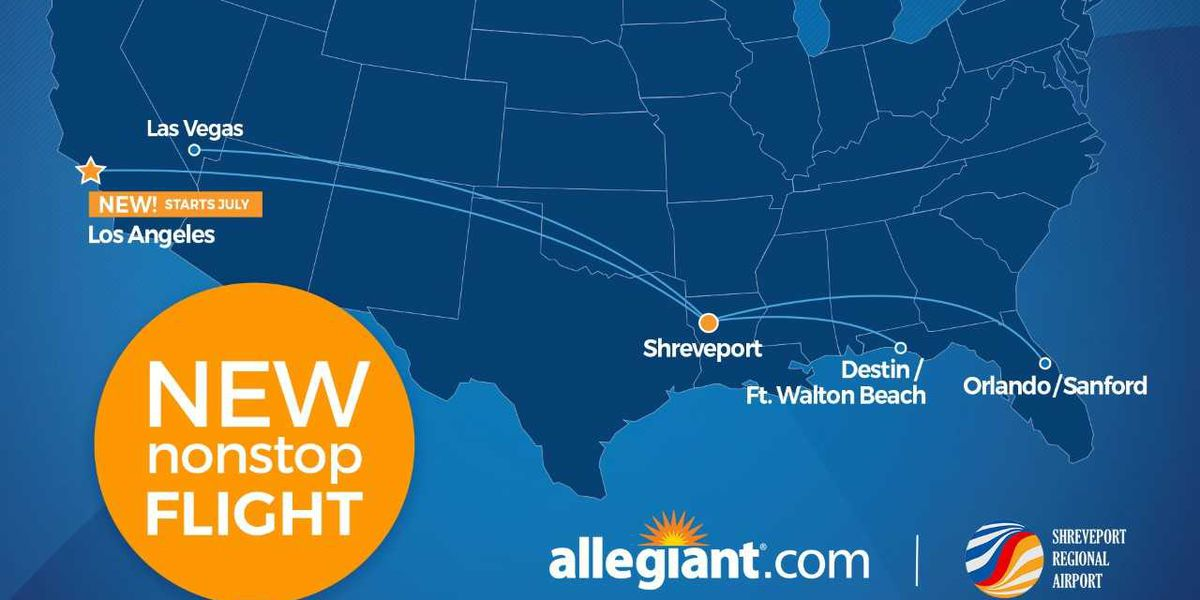 Shreveport Regional Airport to offer non-stop flights to Los Angeles starting summer 2021