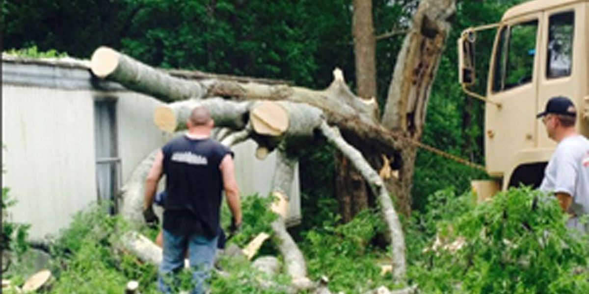 Huntington woman taken to hospital after tree fell on house
