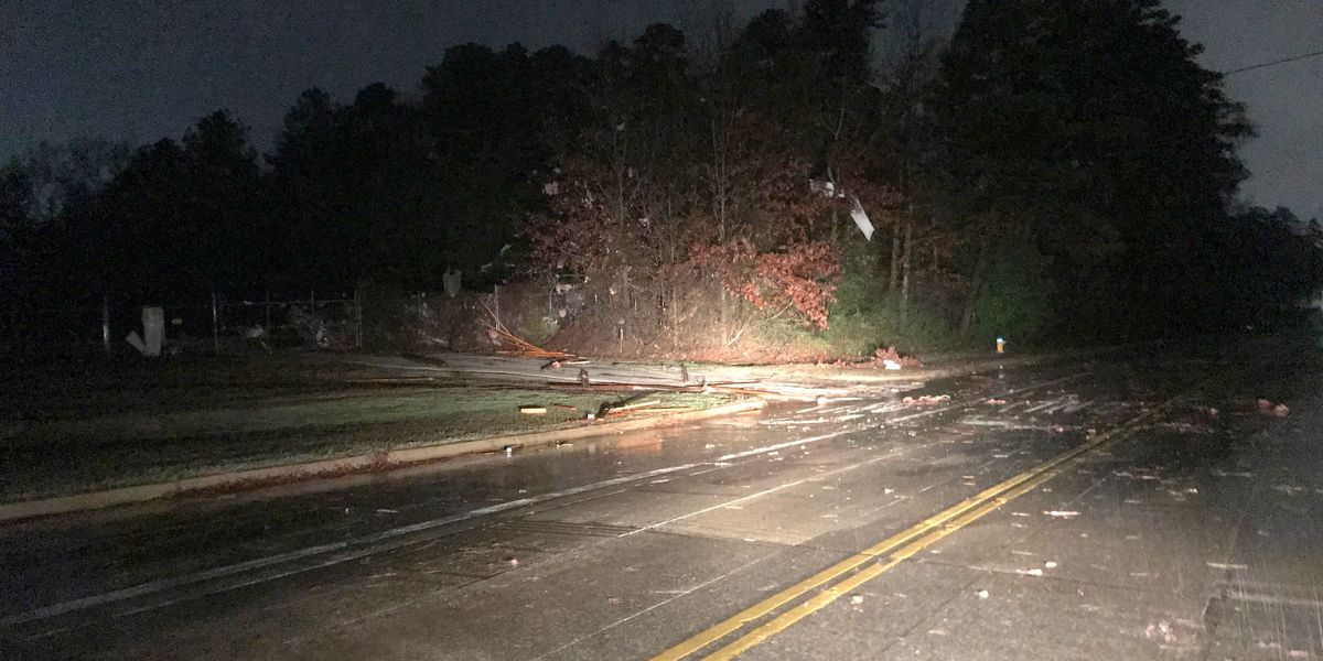 Weather-related outages, damage in East Texas