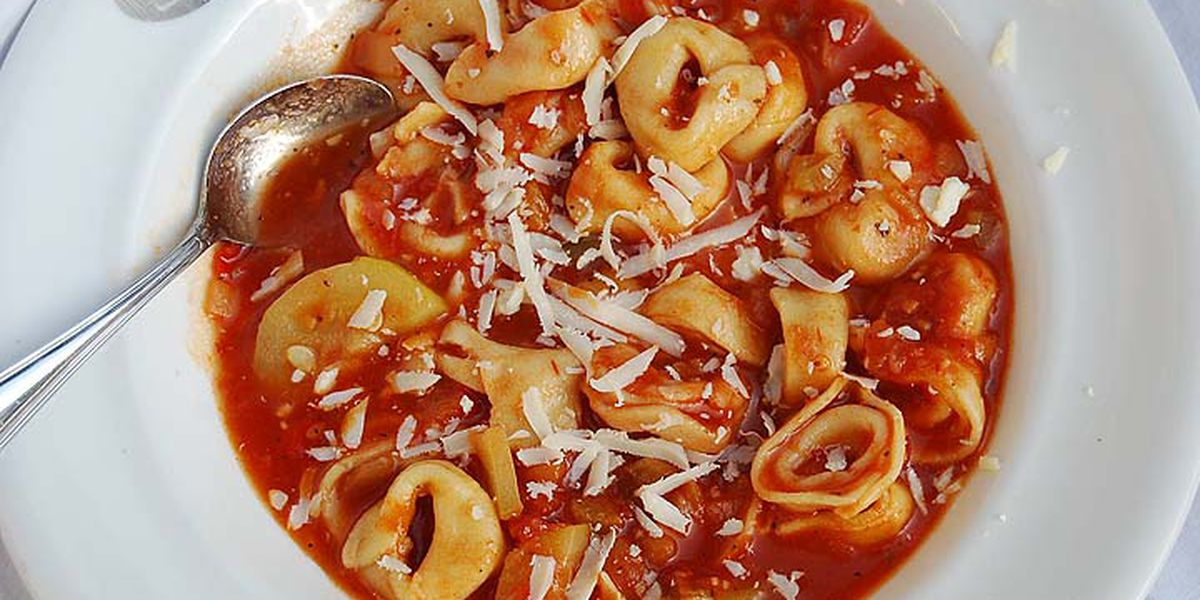 Tortellini-vegetable soup by Mama Steph