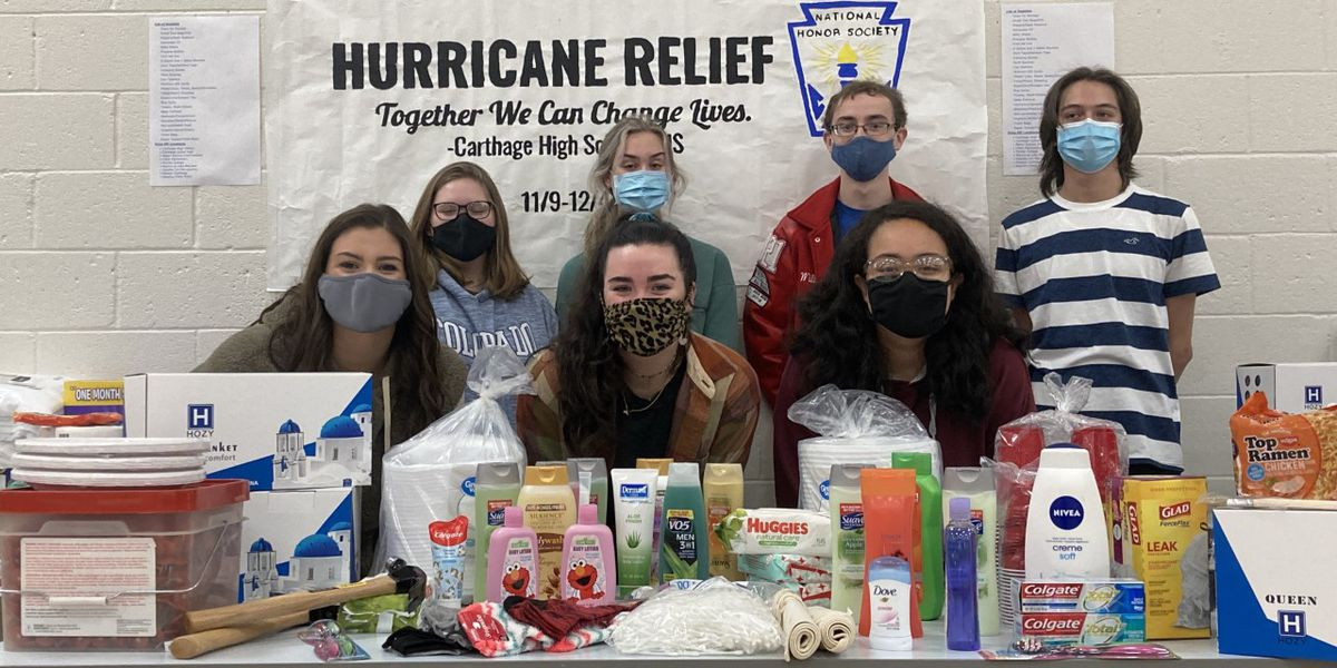 Hurricane relief drive being held by Carthage High School students