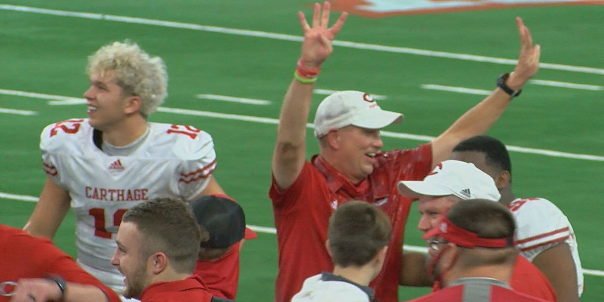 Carthage captures state title in 70-14 win over Gilmer