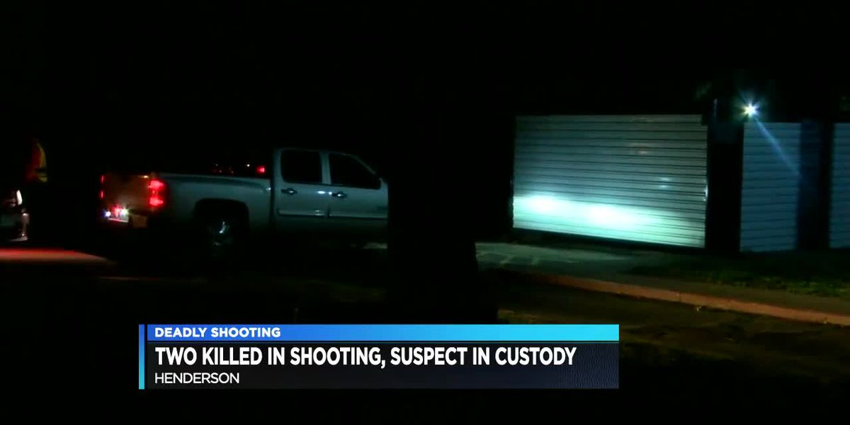 Henderson shooting suspect in custody; 2 dead, 2 injured