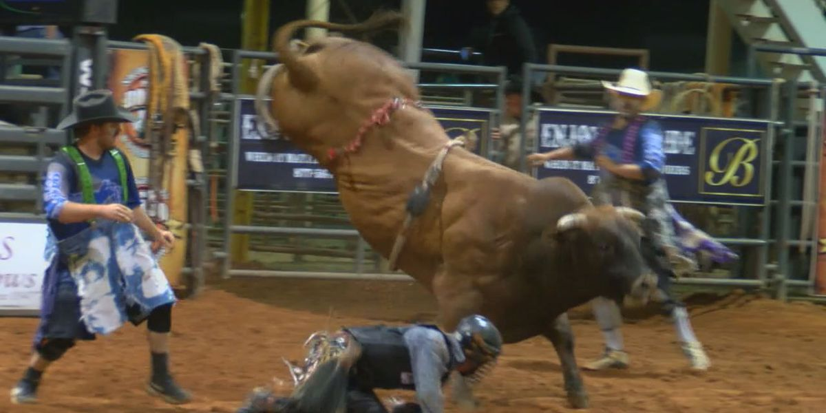 Bull fighters put their bodies on the line at Nacogdoches Pro Rodeo