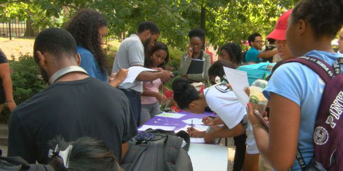 Police shootings weigh heavy on participants of SFA NAACP's prayer vigil