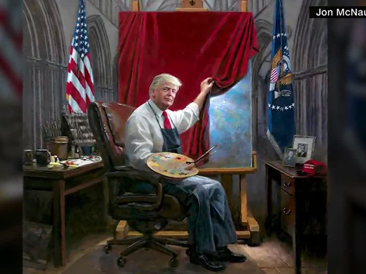 "Trump ""Masterpiece"" gets retouched by critics. They're doing their own masterpieces."