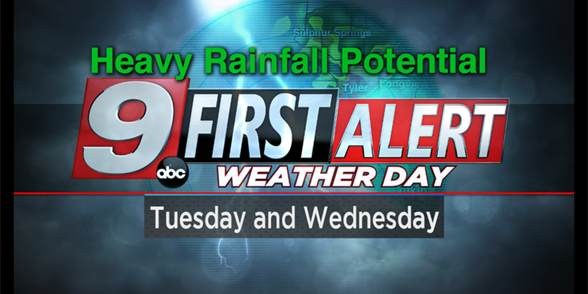 First Alert Weather Days in place for heavy rainfall potential this week