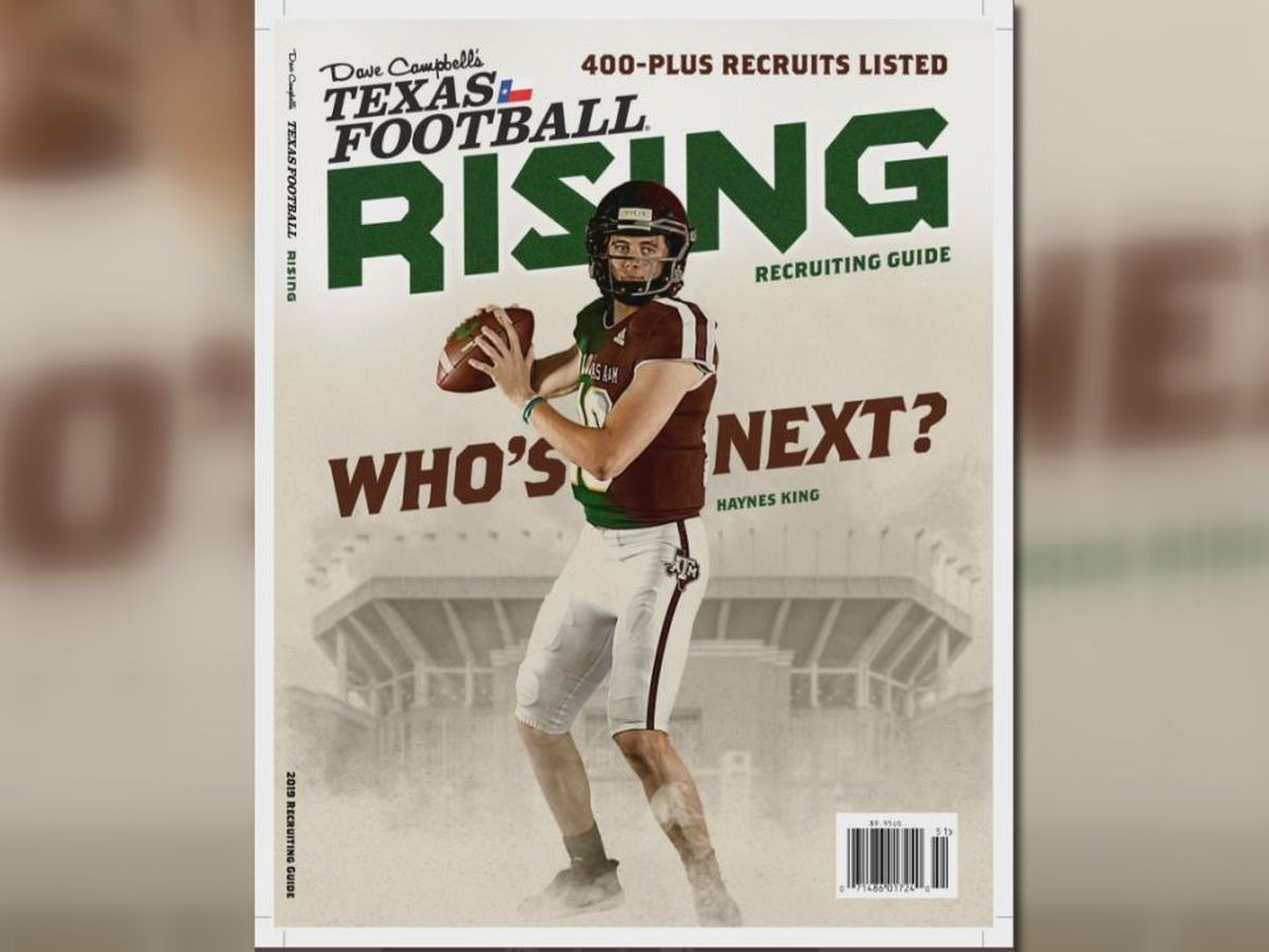 Longview's Haynes King revealed as Dave Campbell magazine cover