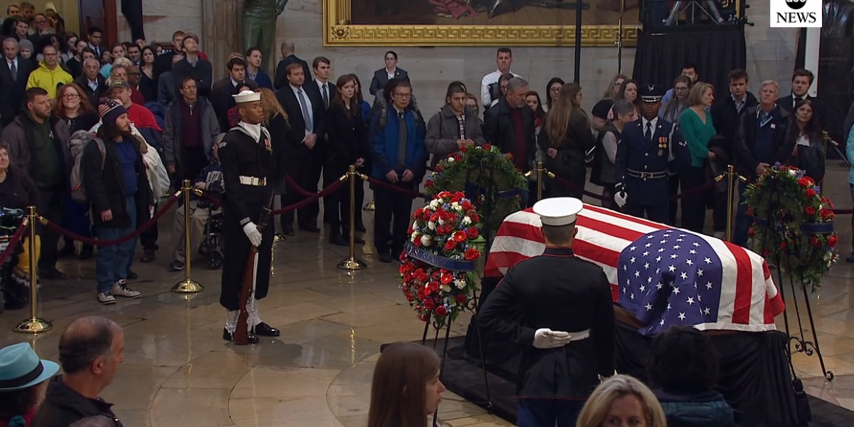 Remembering Bush: Former president lies in state at U.S. Capitol