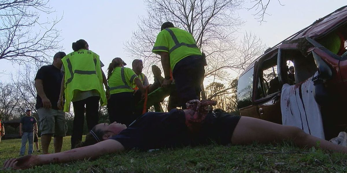 Nacogdoches Memorial Hospital EMT students 'dispatched' to mock casualty scenario