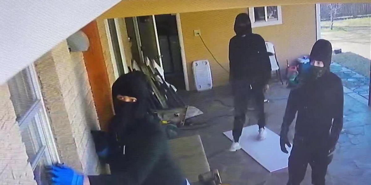Police investigating numerous burglaries occurring at Crockett home