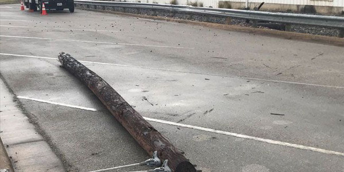 Wreck on Shepherd Ave in downtown Lufkin knocks power lines down