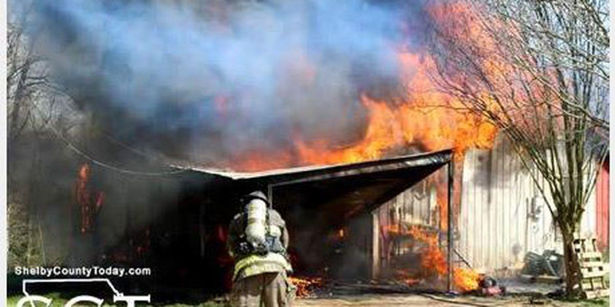 Fire destroys Shelby County farmhouse