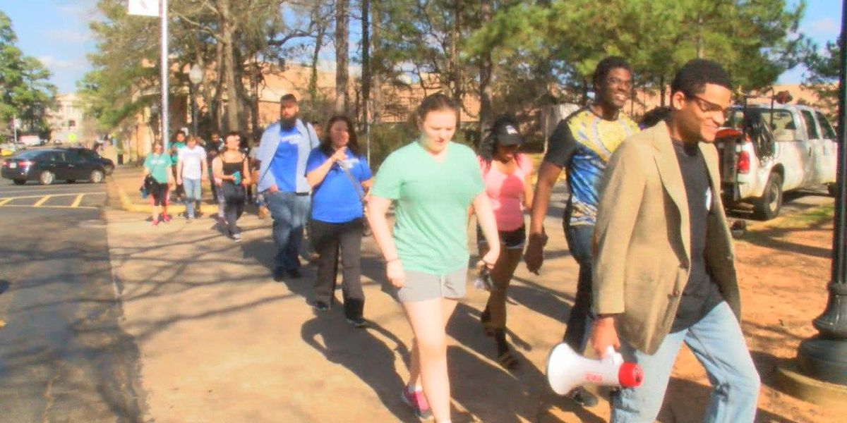 SFA students march to the polls to encourage millennials to vote