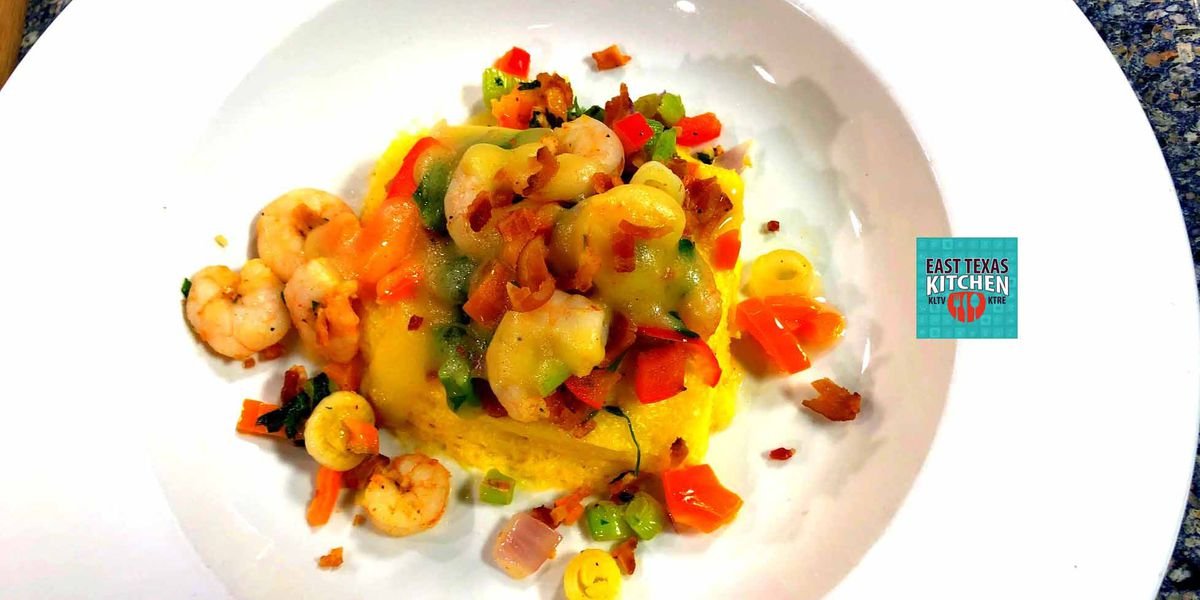 Bacon, Shrimp and Grits Casserole by Chef Ben Carter of Southern Fried
