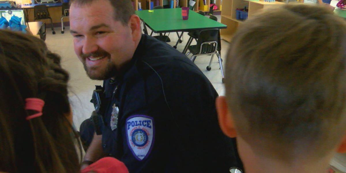 SFA police officer continues Christmas tradition, donates toys in mother's memory