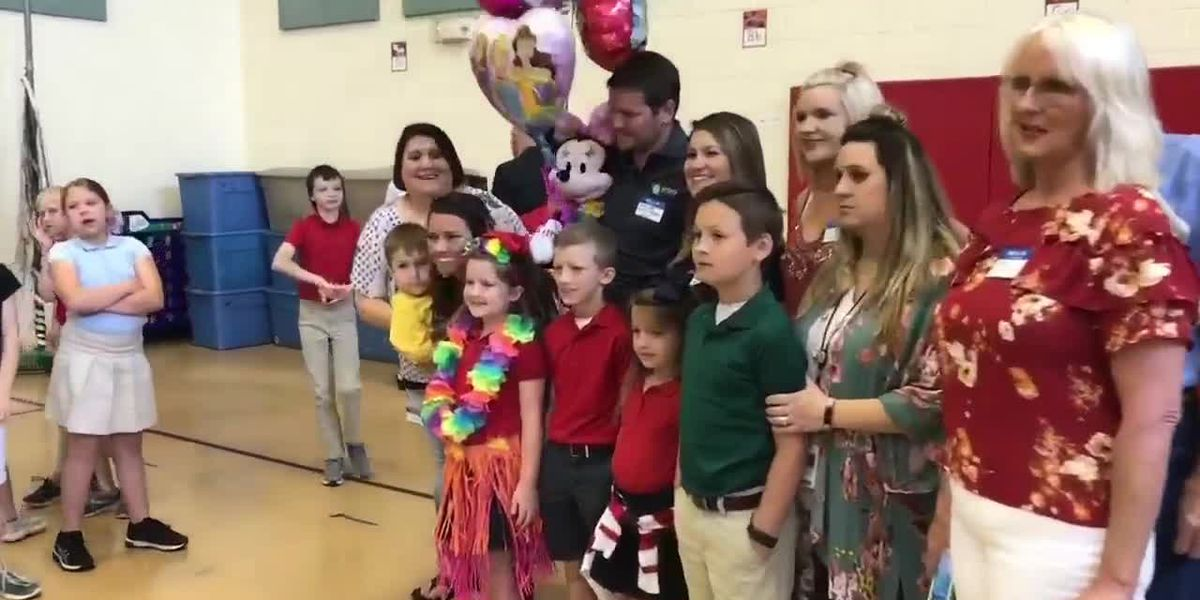 Longview girl battling cancer gets Make-A-Wish surprise at school