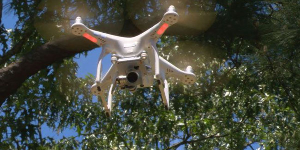 SFA forestry students flying drones to help in study of environment