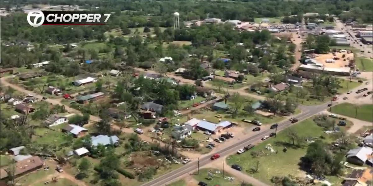 WEBXTRA: Chopper 7 flies over storm damage in Cherokee County