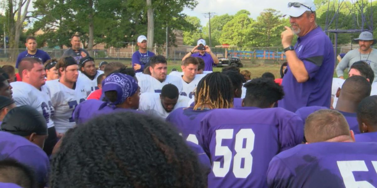 SFA football holds first practice after Conque's exit