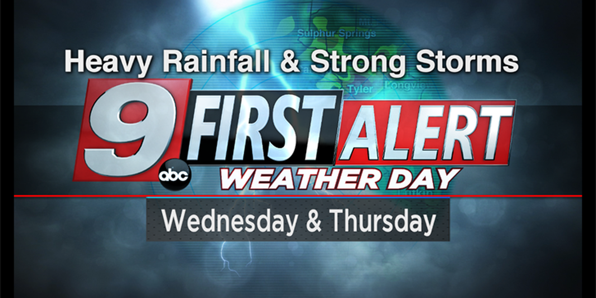 First Alert: Heavy rainfall and a few strong storms likely this week