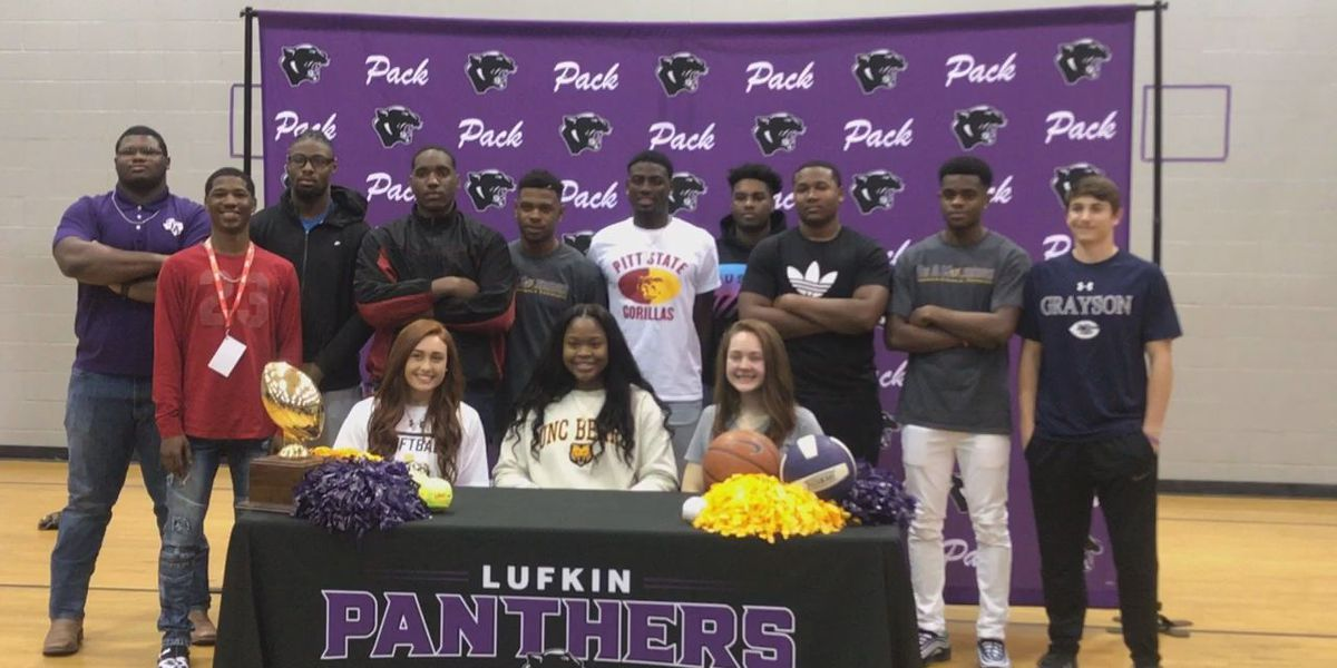 11 Lufkin student athletes sign on National Signing Day