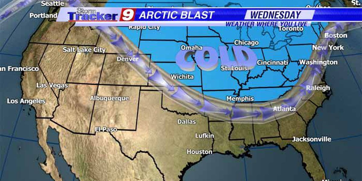 An Arctic cold front headed for Deep East Texas
