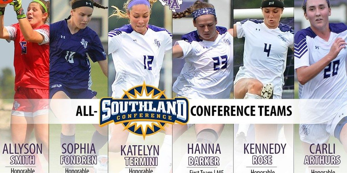 Barker repeats as Southland Conference Midfielder of the Year; five other Ladyjacks honored