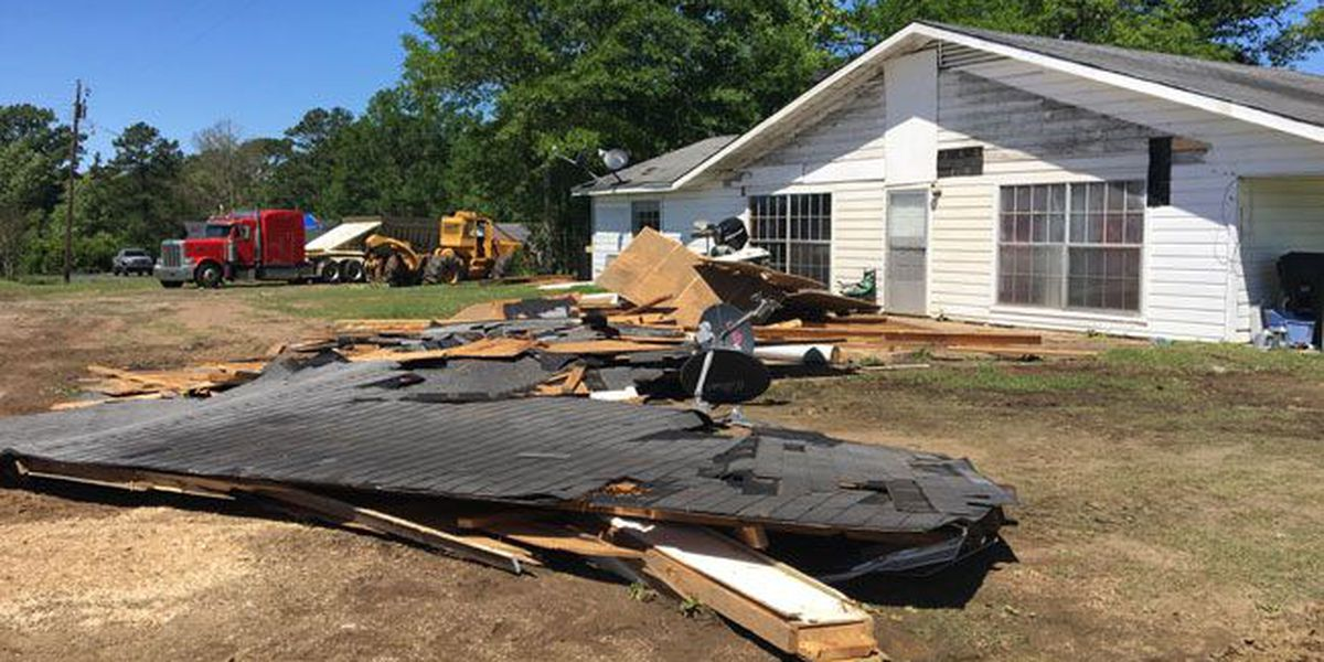 Broaddus residents cleaning up damage in wake of Sunday's severe storm