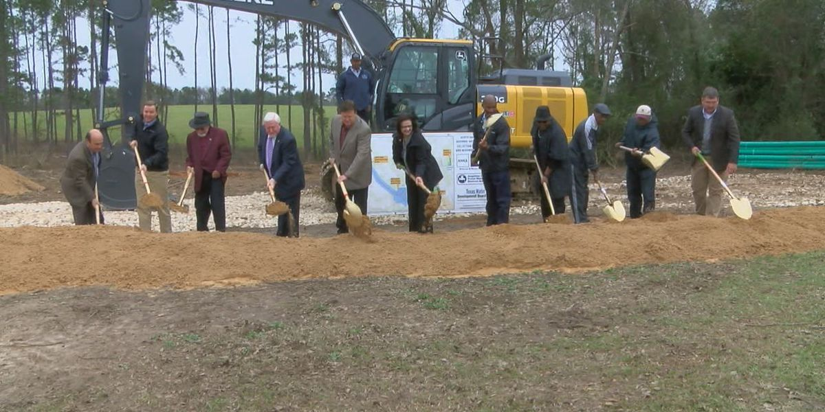 Ground breaks to begin new sewer project for North Angelina County