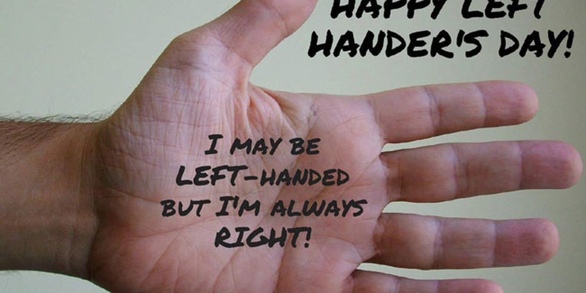Southpaws unite! August 13 marks International Left-Handers Day