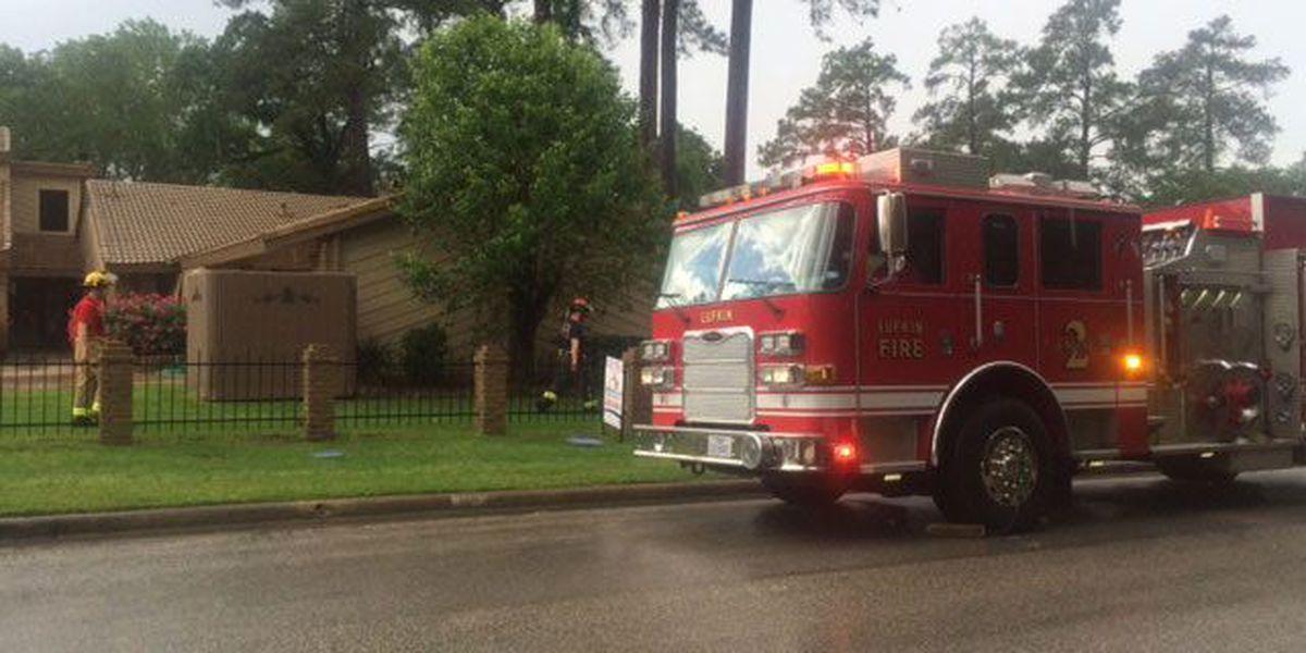 Lightning strike sparks house fire on Lufkin's Champions Drive