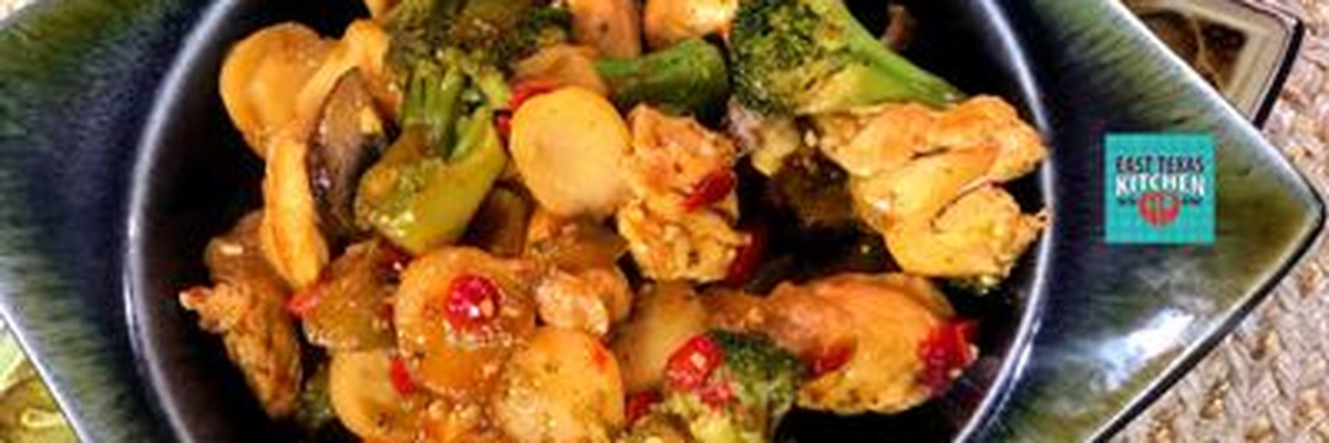 East Texas Kitchen: Chicken and Vegetable Stir fry by Mama Steph
