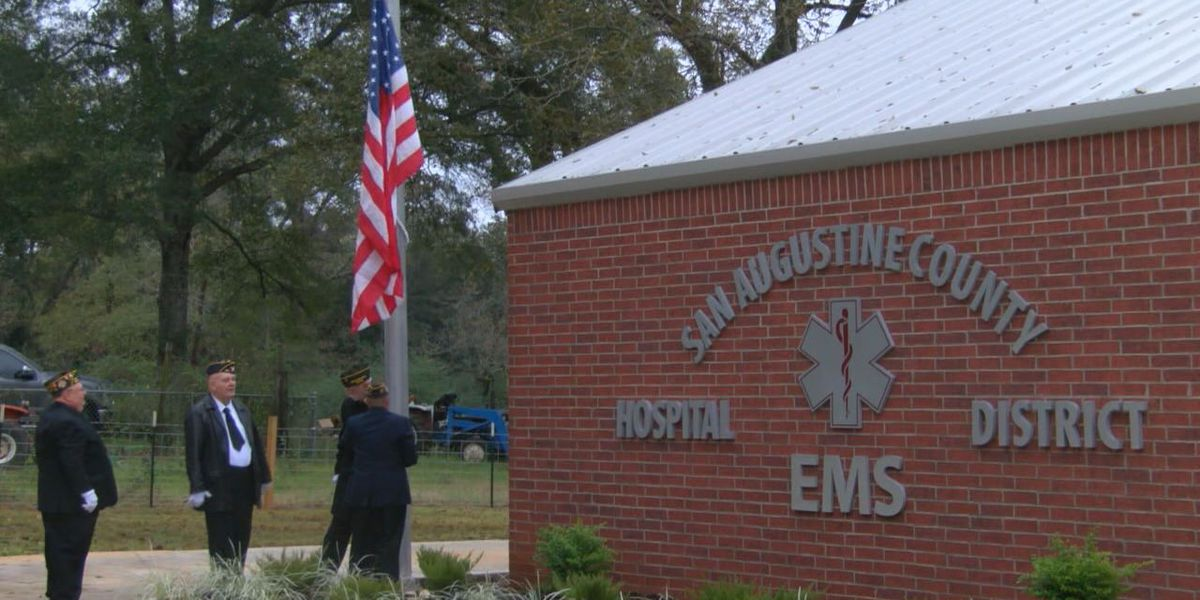 San Augustine dedicates EMS building as next step to being in the ambulance business