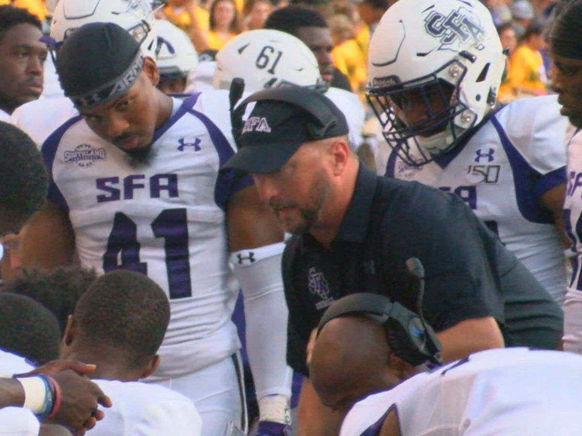SFA head football coach Colby Carthel tests positive for COVID-19