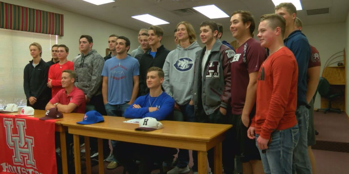 Three Hudson athletes sign to play college ball