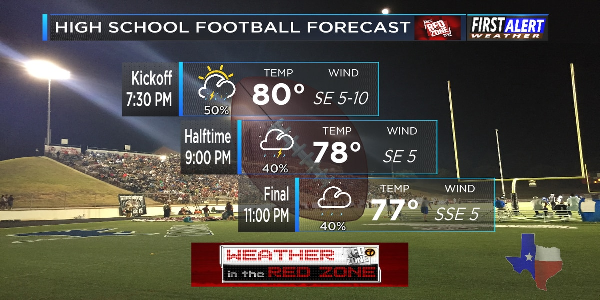 Red Zone Forecast: Expect wet nights on Week 4