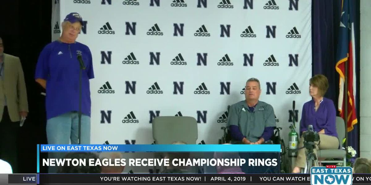 WATCH: Newton Eagles celebrate 5th state championship during ring ceremony