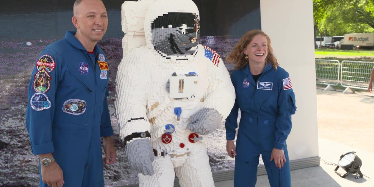Lego unveils life-size Apollo 11 astronaut model at DC event