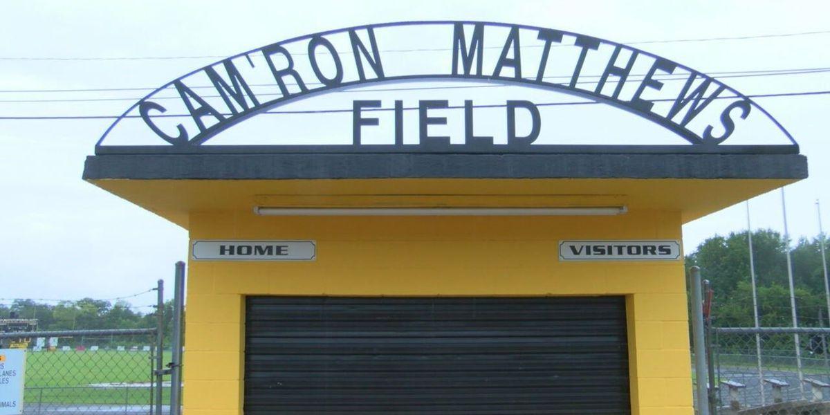 Alto renames football field 'Cam'Ron Matthews Field' for fallen teammate
