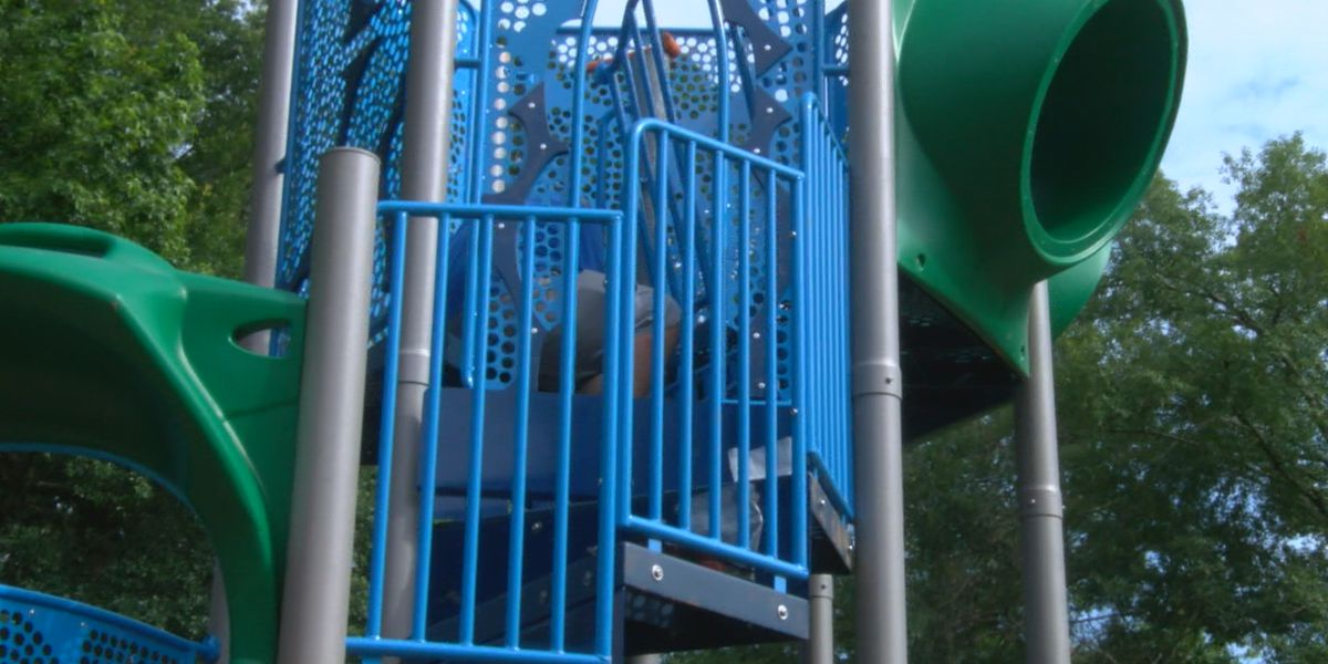 Modern playscapes going up in two Nacogdoches parks