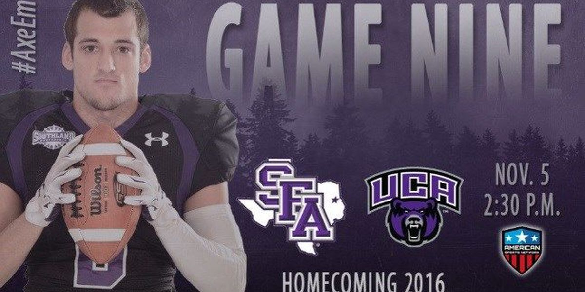 SFA hosts 17th-ranked Central Arkansas Saturday for Homecoming 2016