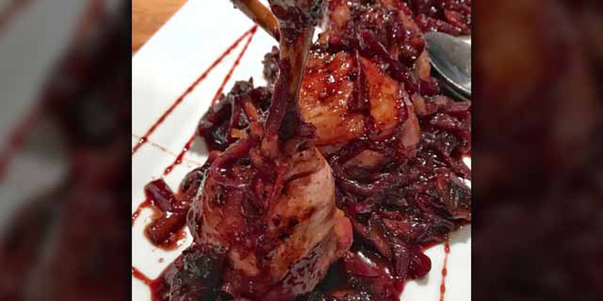 Chicken lollipops and red onion marmalade by Chef Simon Webster
