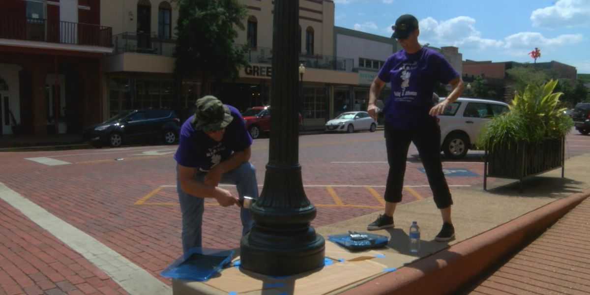 Probation officers paint the town in Nacogdoches