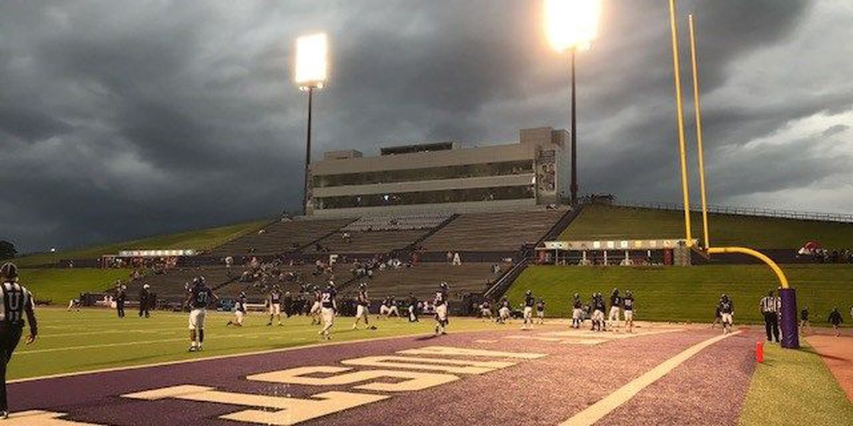 SFA home opener game cancelled due to lightning