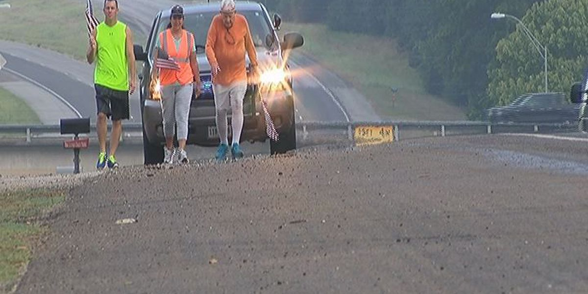 WW2 veteran walking across America enters Angelina Co.